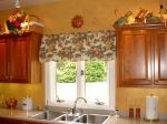 We designed this awning valance to go above the sink, it gave the kitchen a cafe feel, which the client wanted.